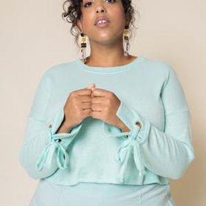 Premme 6x Whitney Mint Cropped Sweater
